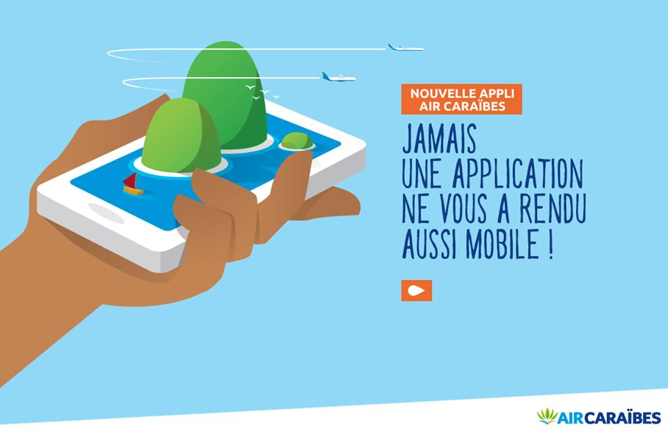 Air Caraïbes: Cinq nouvelles fonctionnalité enrichissent son application mobile