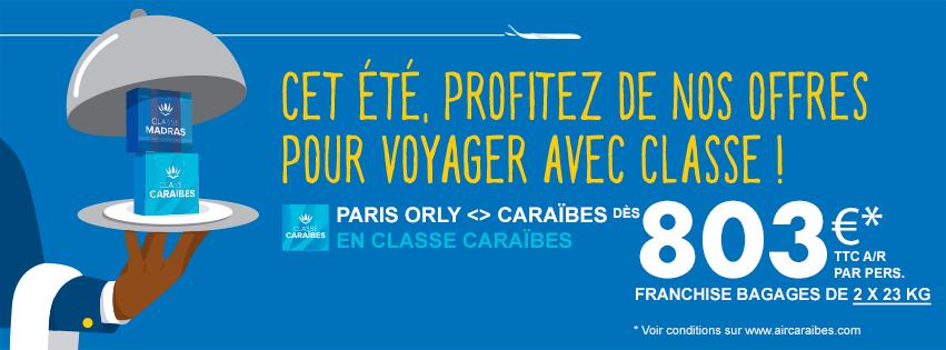 Air Caraïbes dévoile des promotions au départ de Paris