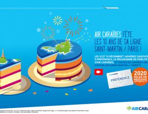Air Caraïbes: Dixième anniversaire de sa desserte Paris – St-Martin, des promos alléchantes dévoilées
